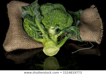 Fresh green head of calabrese broccoli  Stock photo © sarahdoow
