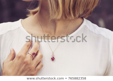 Collection Golden Engagement Rings Precious Stones Stock photo © robuart