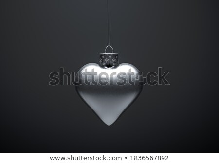 White and Silver Christmas Bauble Decorations Stock photo © marilyna