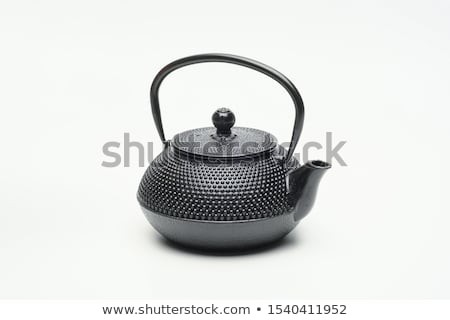 iron vintage teapot and cups stock photo © dash