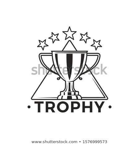 Trophy Cup with Stars Above Monochrome Emblem Stock photo © robuart