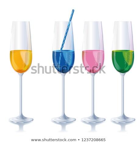 4 狭い 異なる シャンパン 眼鏡 ストックフォト © Ustofre9