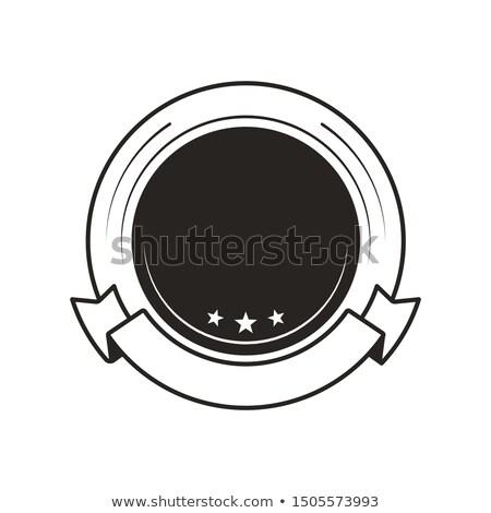 Medalla ganar plantilla monocromo logo mejor Foto stock © robuart