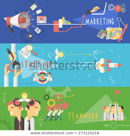 strategy and successful team promo banners set stock photo © robuart