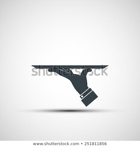 Zdjęcia stock: Strony · kelner · celu · ilustracja · ręce