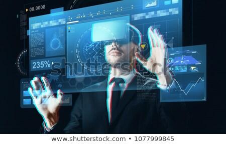 biznesmen · faktyczny · rzeczywistość · zestawu · ludzi · biznesu · nowoczesne - zdjęcia stock © dolgachov