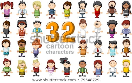 kids and teenagers cartoon characters group Stock photo © izakowski