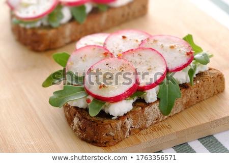 Ricotta cheese toasts Stock photo © YuliyaGontar