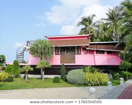 Thai casa praia ilustração água paisagem Foto stock © colematt