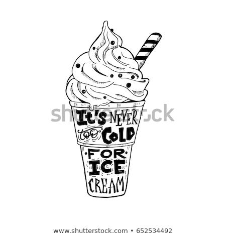 チップ アイスクリーム ポスター セット ソフトドリンク ストックフォト © robuart