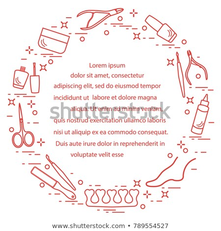 Pedicure and Manicure Service Posters Set Vector Stock photo © robuart