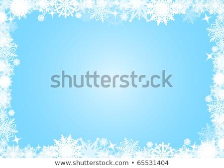 Winter background with icicles border Stock photo © Kotenko