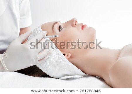 mooie · vrouw · schoonheid · gezicht · injectie · veroudering · arts - stockfoto © ruslanshramko