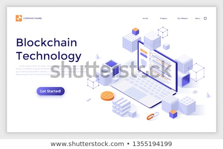 Cryptocurrency concept - modern isometric vector web banner Stock photo © Decorwithme