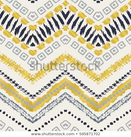 Gold schwarz ethnischen Motive unendlich Stock foto © lissantee