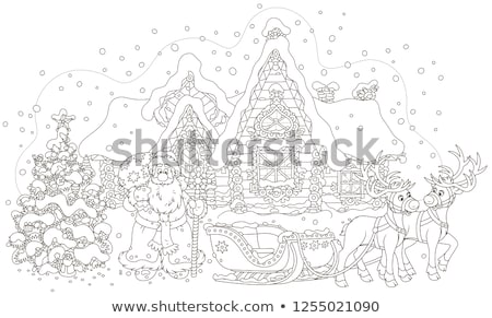 Kerstman permanente slee christmas vector Stockfoto © robuart