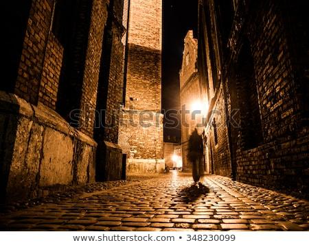 Histórico Praga rua noite velho lâmpadas Foto stock © Taiga