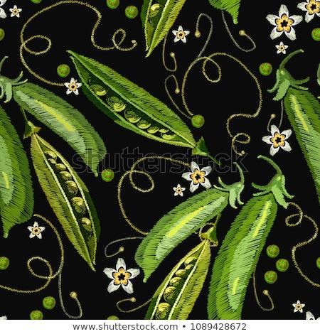 органический зеленый бесшовный шаблон иллюстрация продовольствие Сток-фото © colematt