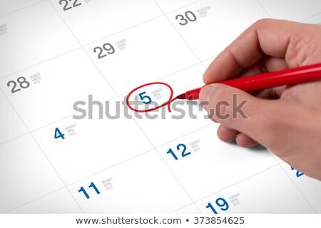 An April 5 calendar Stock photo © colematt