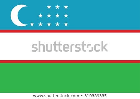 Üzbegisztán zászló izolált fehér háromdimenziós render Stock fotó © daboost
