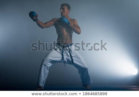 Férfi hivatalos karate kék sport egészség Stock fotó © Andreyfire