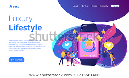 Smartwatch app concept landing page. Stock photo © RAStudio