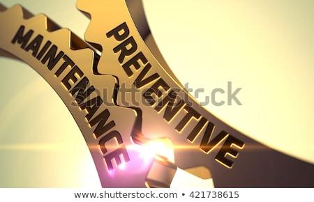 Karbantartás mechanizmus fémes sebességváltó 3D fém Stock fotó © tashatuvango