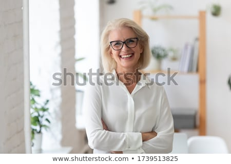 boss of company chief executive with employee stock photo © robuart