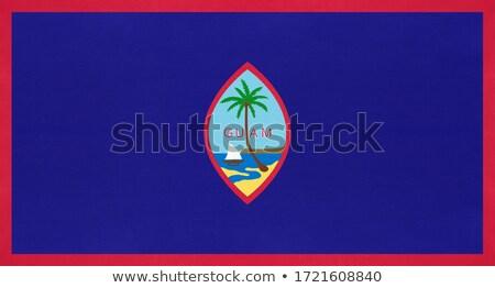 Zászló Egyesült Államok terület Guam száraz Föld Stock fotó © grafvision