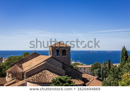 trieste cathedral of san giusto martire view stock photo © xbrchx