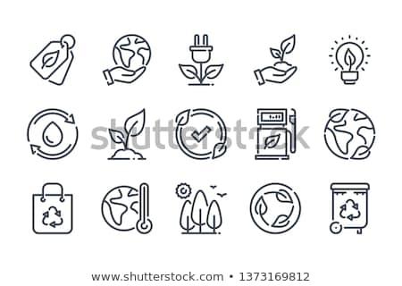 Föld napja ikon illusztráció földgömb boldog absztrakt Stock fotó © bluering