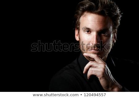 Portret przystojny mężczyzna 30s biały Zdjęcia stock © deandrobot