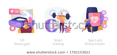 VR fitness gym concept vector illustration. Stock photo © RAStudio