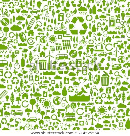électricité icône modèle style texture affaires Photo stock © netkov1