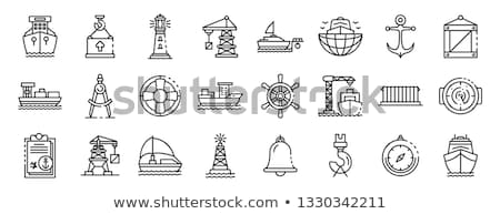Morza portu czarny statków morskich Zdjęcia stock © netkov1