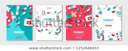 Medication Medicines Posters Vector Illustration Stock photo © robuart