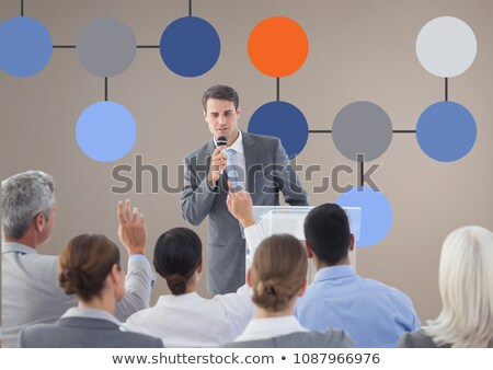 Group meeting and Colorful mind map over wall background Stock photo © wavebreak_media