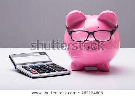 Piggy · Bank · калькулятор · изолированный · белый · деньги - Сток-фото © andreypopov