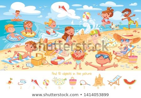 Zomer activiteit zwemmen meisje springen water Stockfoto © robuart