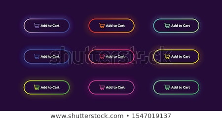 Stock photo: Nine Round Neon Frames