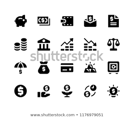 Tijd is geld vector icon geïsoleerd witte business Stockfoto © smoki