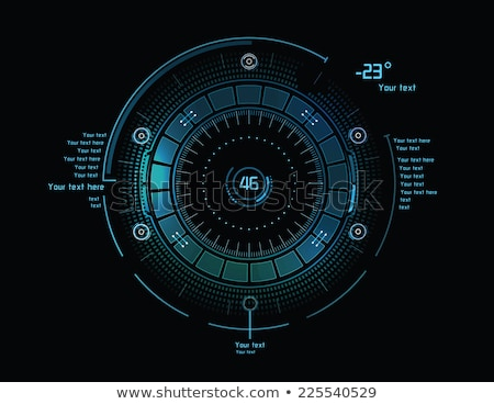 Futurystyczny użytkownik interfejs scifi przyszłości technologii Zdjęcia stock © m_pavlov