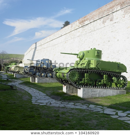 military technique, fortress Kalemegdan, Belgrade, Serbia Stock photo © phbcz
