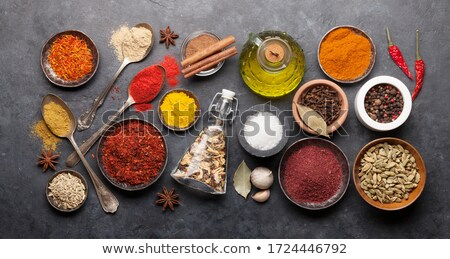 Various seasonings in bowls Stock photo © grafvision