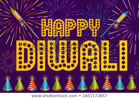 beautiful happy diwali festival banner with firework Stock photo © SArts