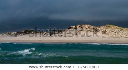Maine · tengerpart · napfelkelte · áll · nedves · homok - stock fotó © jsnover