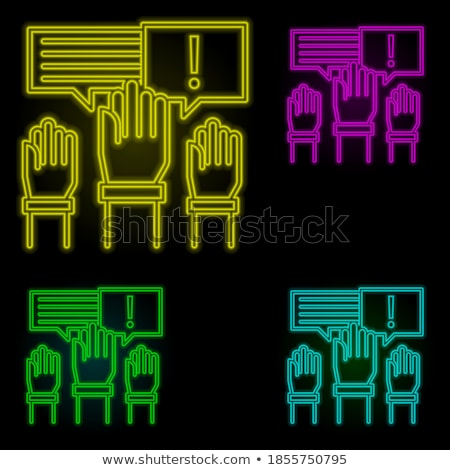 Boss and Work in Business Company Posters Set Stock photo © robuart