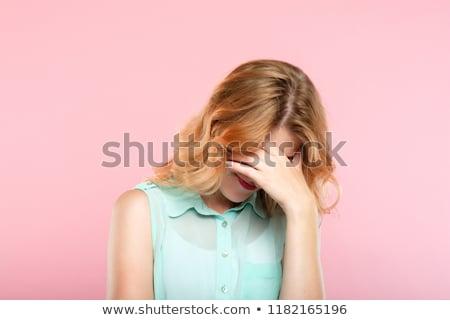 Mujer avergonzado vergüenza vergüenza cómico Cartoon Foto stock © rogistok