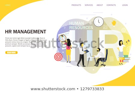 Company CEO and human resources banner template Stock photo © Decorwithme