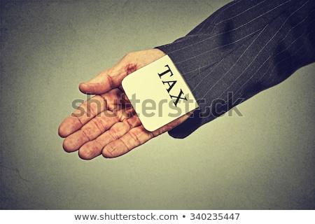 ÁFA nyíl körül szó adó üzlet Stock fotó © AndreyPopov